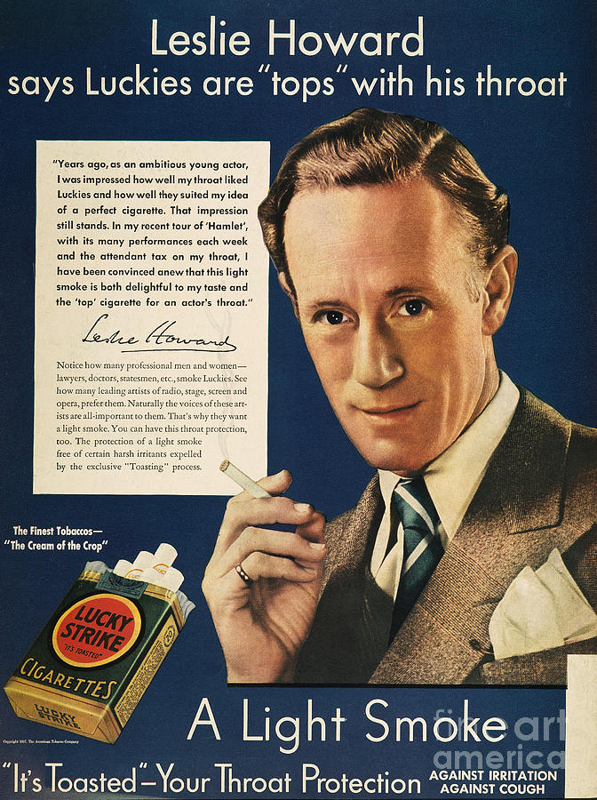 1937 Photograph - Lucky Strike Cigarette Ad by Granger