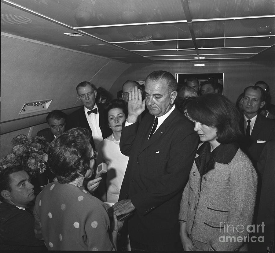 1963 Photograph - Lyndon Baines Johnson by Granger