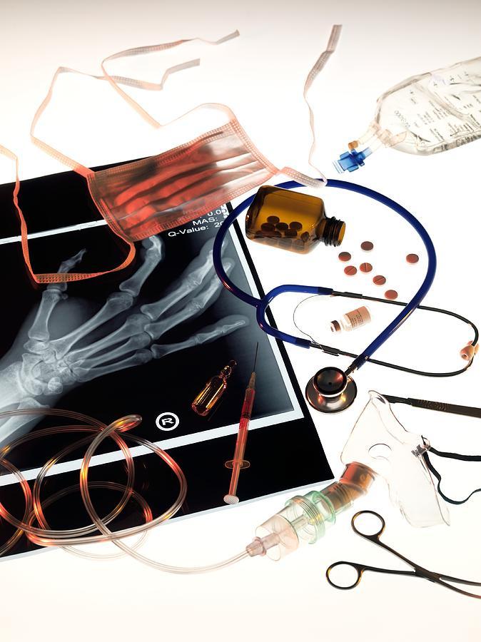 Iv Bag Photograph - Medical Treatment, Conceptual Image by Tek Image