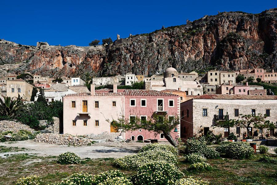 Ancient Photograph - Monemvasia by Constantinos Iliopoulos