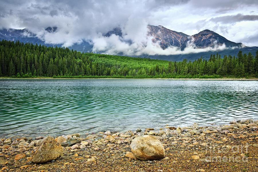 Lake Photograph - Mountain Lake In Jasper National Park by Elena Elisseeva