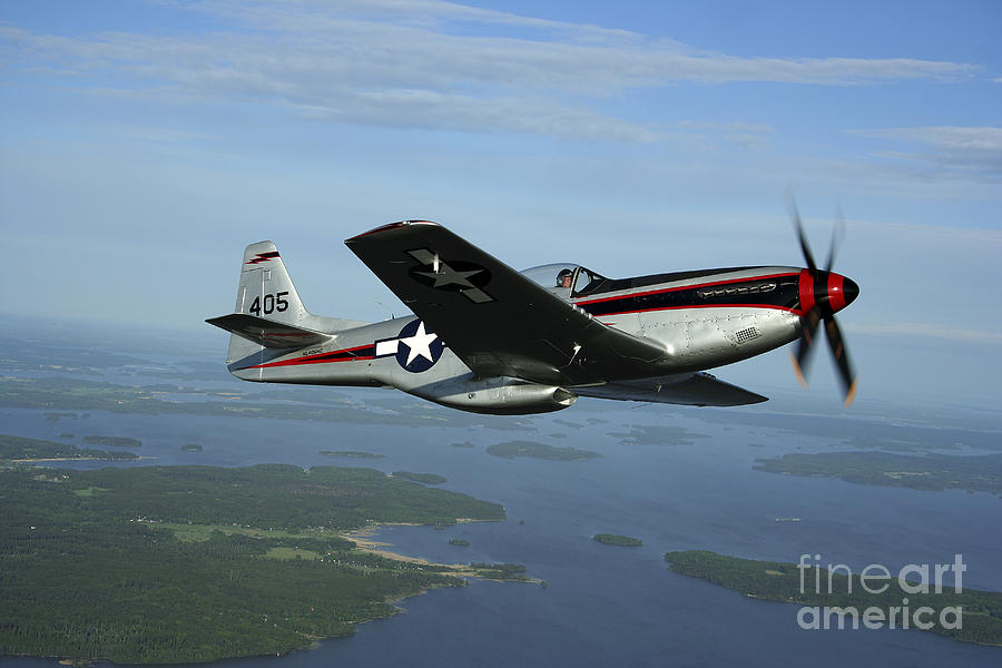 Transportation Photograph - North American P-51 Cavalier Mustang by Daniel Karlsson