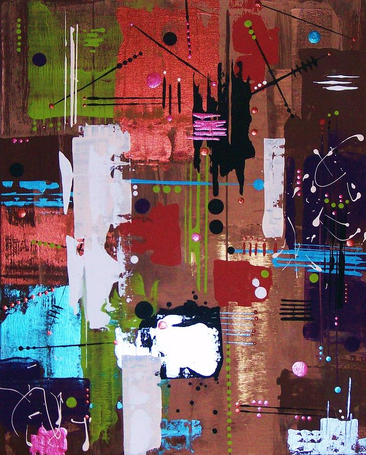 Abstract-expressionism Painting - 3 Oclock In The Morning by Charlotte Nunn