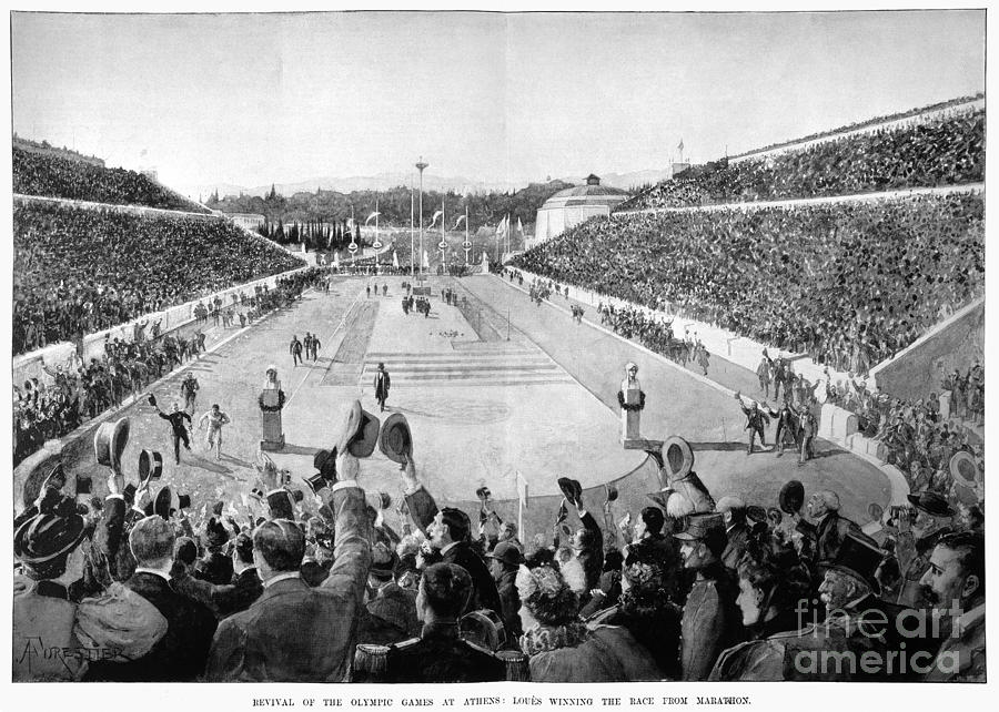 1896 Photograph - Olympic Games, 1896 by Granger