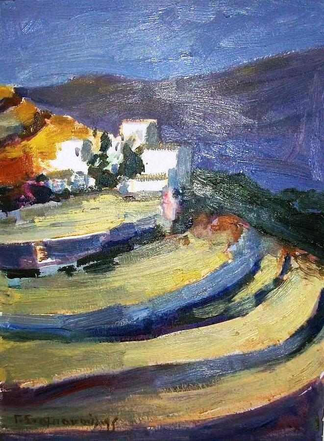 Paros Lefkes Painting by George Siaba