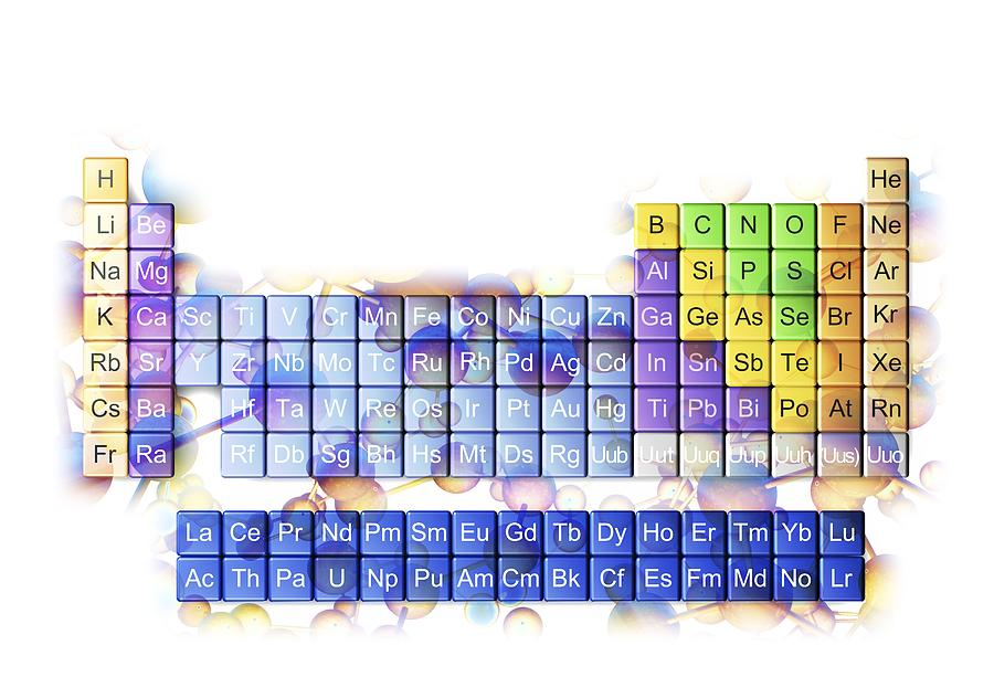 3d Photograph - Periodic Table by Pasieka