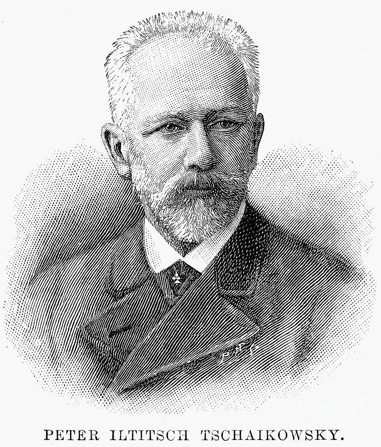 19th Century Photograph - Peter Ilich Tchaikovsky by Granger