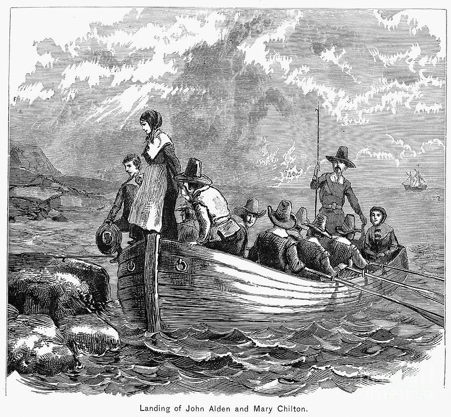 plymouth rock landing granger 1620 pilgrim photograph thanksgiving 1st uploaded july which settlers