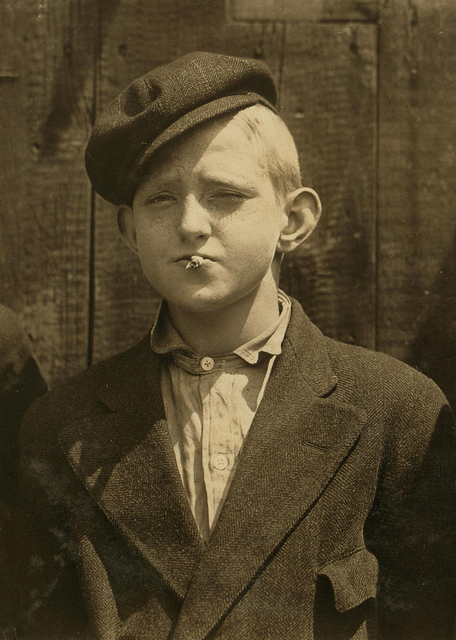 1910s Photograph - Portrait Of A Boy Smoking, Original by Everett