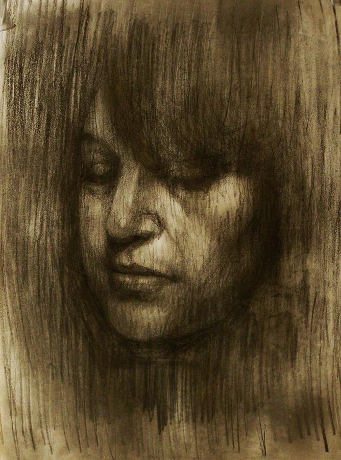 Rembrandt Drawing - Portrait Of Elizabeth by Derek Van Derven