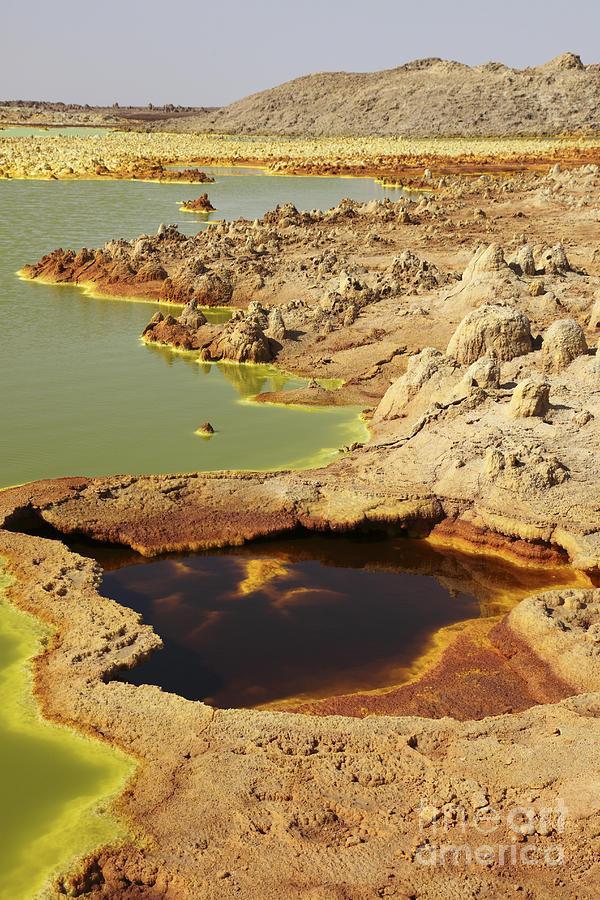 Lake Photograph - Potassium Salt Deposits, Dallol by Richard Roscoe