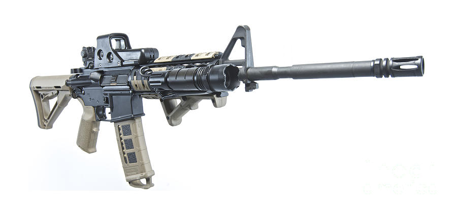 Cutout Photograph - Rock River Arms Ar-15 Rifle Equipped by Terry Moore