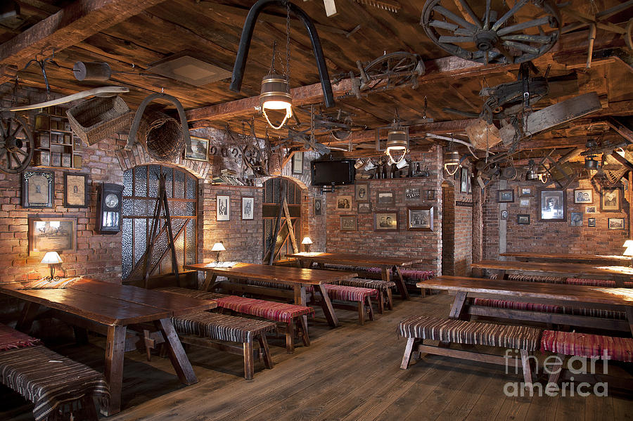 Rustic Restaurant Seating Photograph By Jaak Nilson