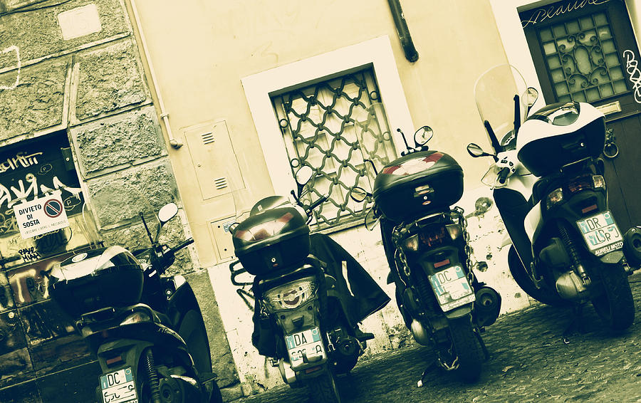 Rome Photograph - Scooter by Joana Kruse