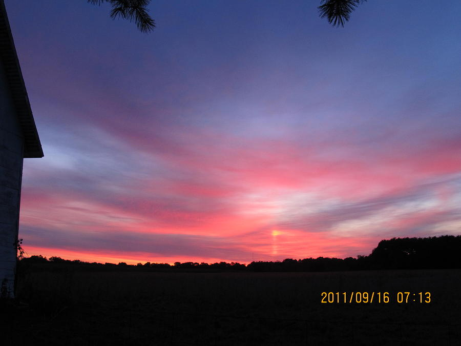 Sun Photograph - September 16 Sunrise by Tina M Wenger