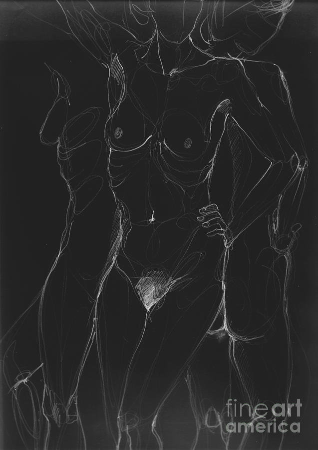 Nude Digital Art - 3 Sides Of A Woman In Night by Roswitha Schmuecker