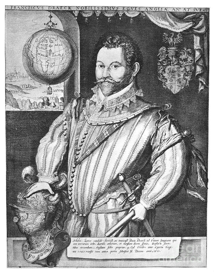 1583 Photograph - Sir Francis Drake (1540-1596) by Granger