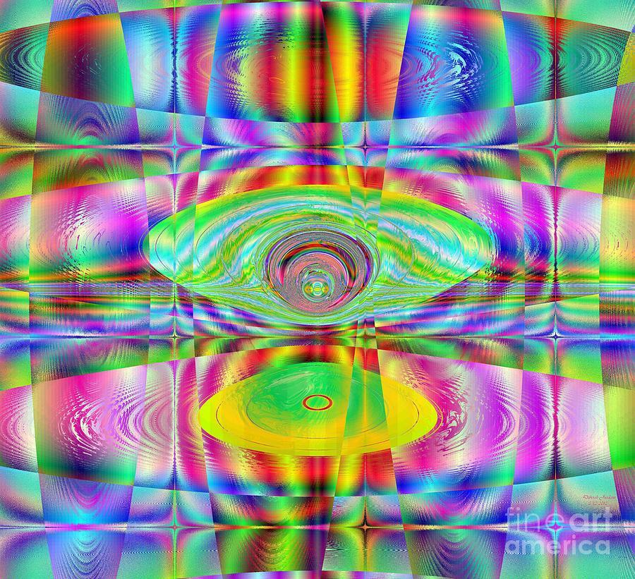 Solar Cycle: Modern Geometric Math Art Digital Art - Solar Cycle by Deborah Juodaitis