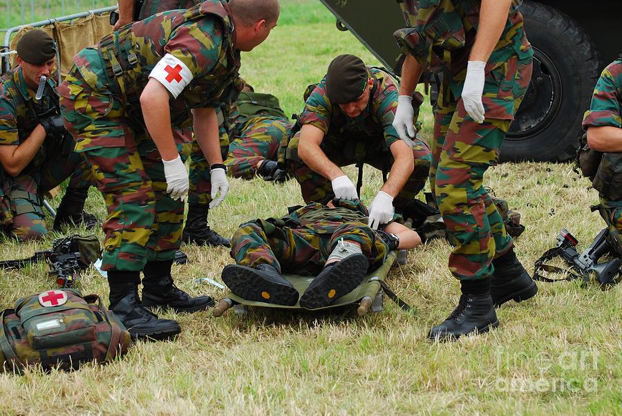 Armed Forces Photograph - Soldiers Of A Belgian Infantry Unit by Luc De Jaeger