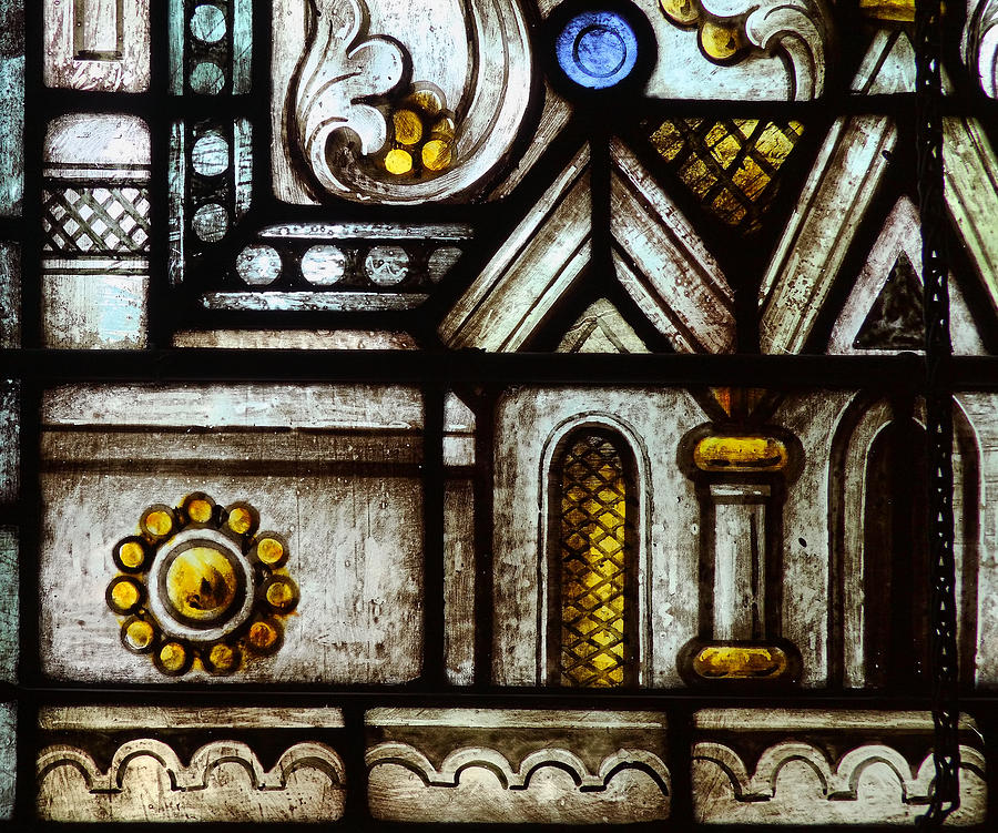 Glass Photograph - stained Glass Window by Rudy Umans