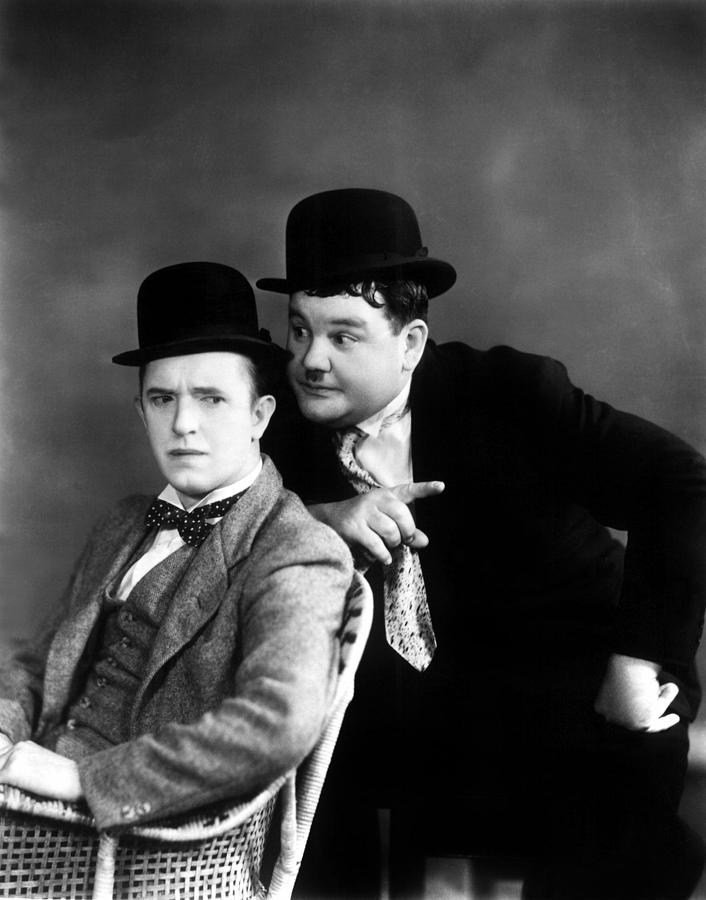 Stan Laurel, Oliver Hardy Laurel & Hardy Photograph by Everett
