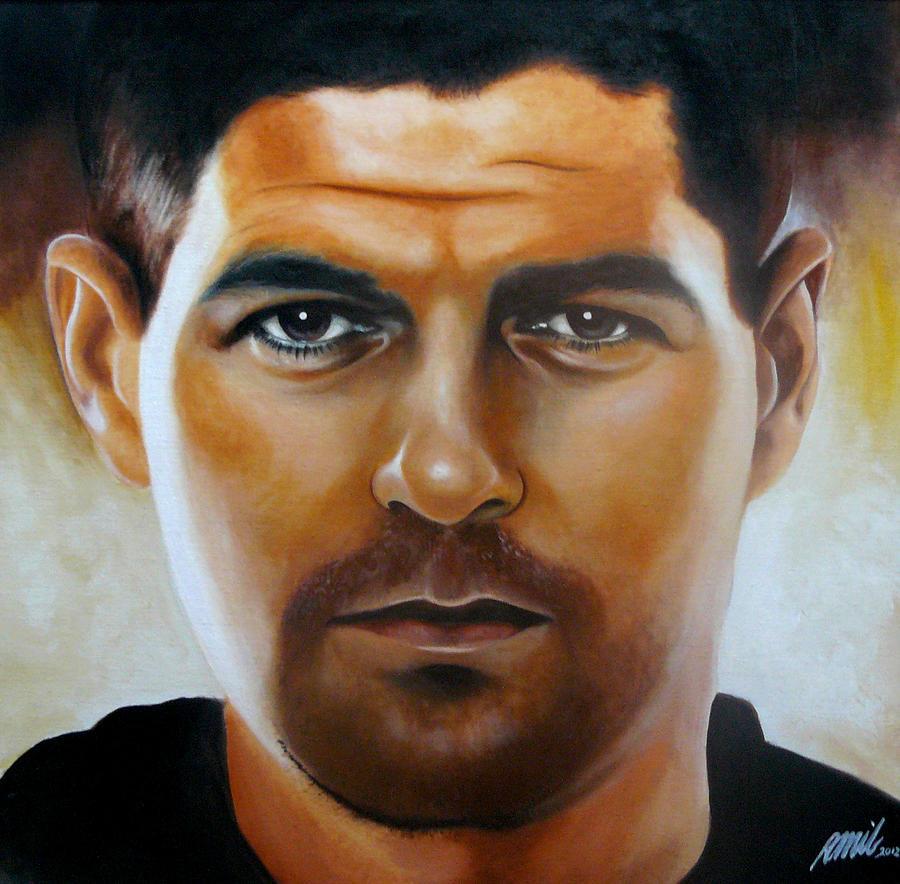 Gerrard Painting - Steven Gerrard Painting by Ramil Roscom Guerra