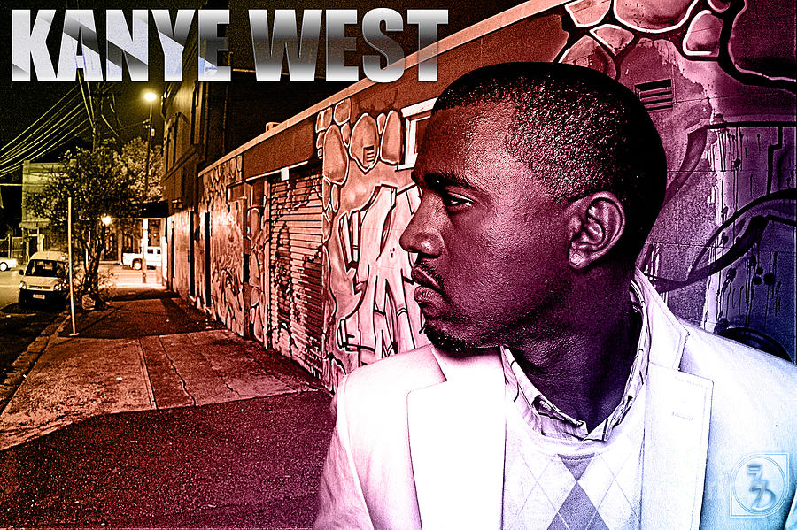 Kanye West Digital Art - Street Phenomenon Kanye West by The DigArtisT