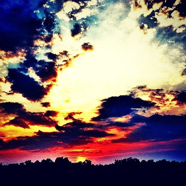 Cloudscape Photograph - Sunset by Katie Williams