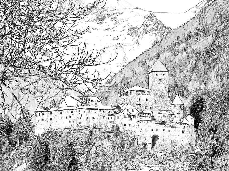 Europe Photograph - Taufers Knights Castle Valle Aurina Italy by Joseph Hendrix
