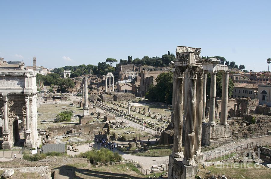 Worth Photograph - Temple Of Saturn In The Forum Romanum. Rome by Bernard Jaubert
