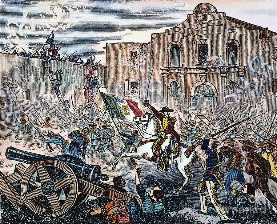 1836 Photograph - Texas: The Alamo, 1836 by Granger