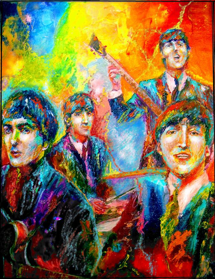 Beatles Painting - The Beatles by Leland Castro