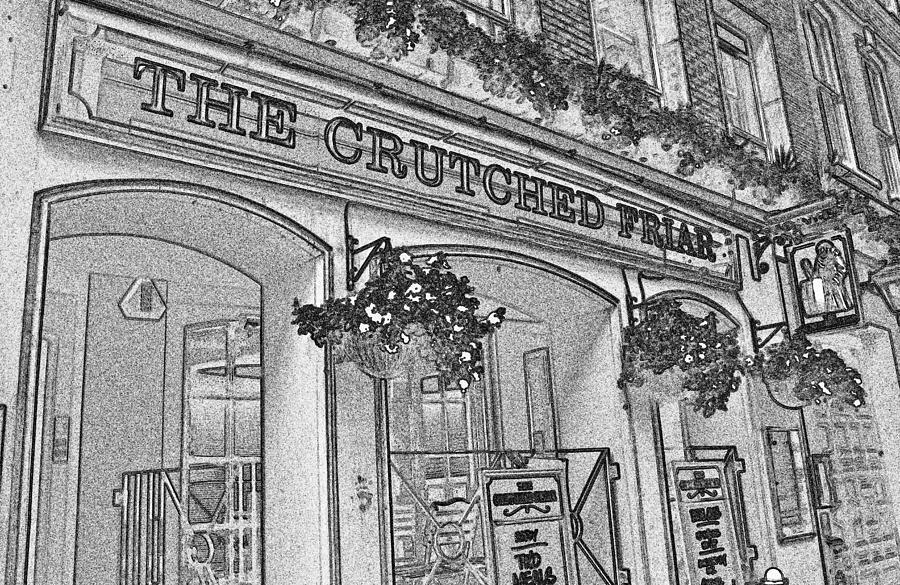 Pub Digital Art - The Crutched Friar Public House by David Pyatt
