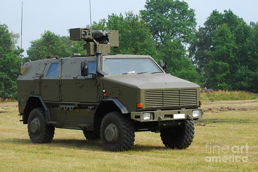 Military Photograph - The Dingo 2 In Use By The Belgian Army by Luc De Jaeger