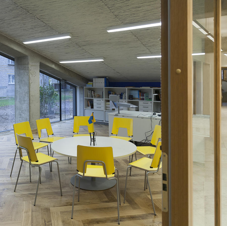 Empty Photograph - The Dining Area Of The New Buildings by Jaak Nilson