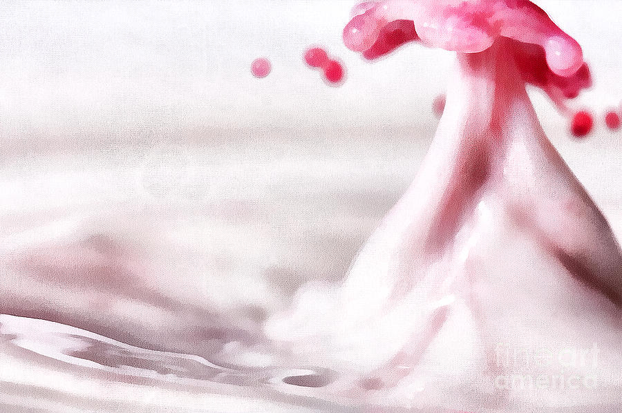 Odon Painting - The Drops by Odon Czintos