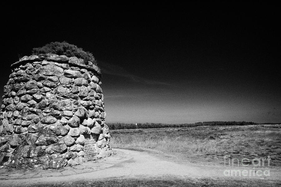 The Photograph - the memorial cairn on Culloden moor battlefield site highlands scotland by Joe Fox