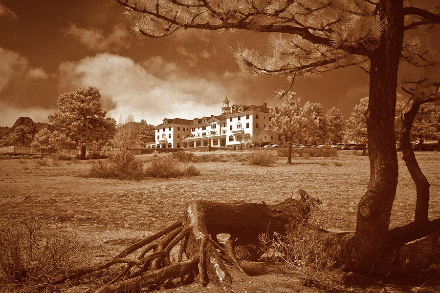 Infra Red Photograph - The Stanley Hotel by G Wigler