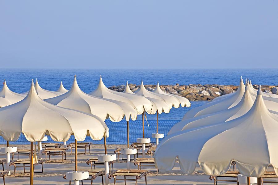 Liguria Photograph - Umbrellas In The Sun by Joana Kruse
