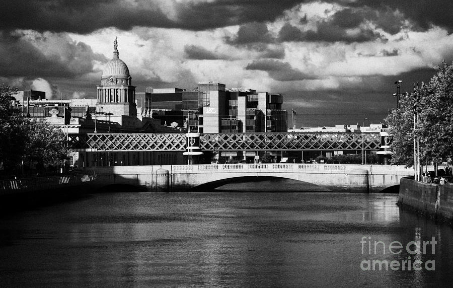 Dublin Photograph - View Of The River Liffey In Dublin City Centre Republic Of Ireland by Joe Fox