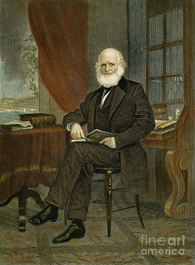 19th Century Photograph - William Cullen Bryant by Granger