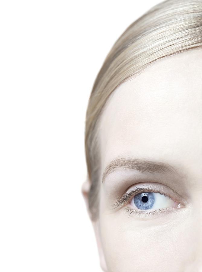 Studio Shot Photograph - Womans Eye by