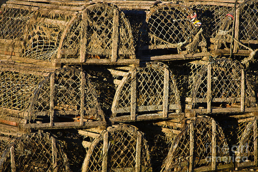 Cape Cod Photograph - Wooden Lobster Traps by John Greim