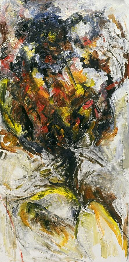 Flower Painting - Untitled by Iris Gill