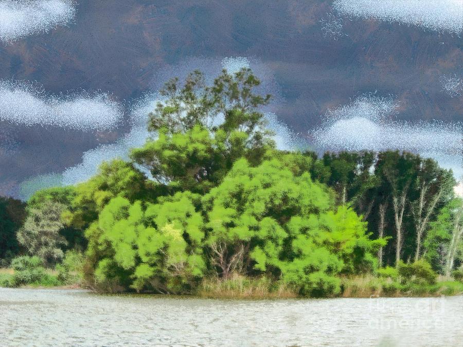 Odon Painting - Landscape by Odon Czintos