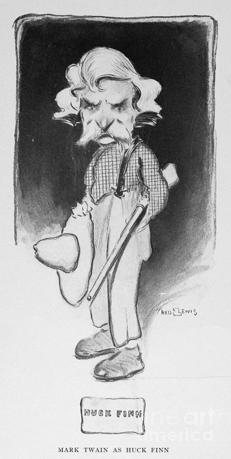 1901 Photograph - Samuel Langhorne Clemens by Granger