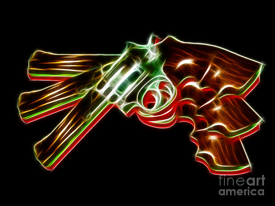Gun Photograph - 357 Magnum - Electric by Wingsdomain Art and Photography