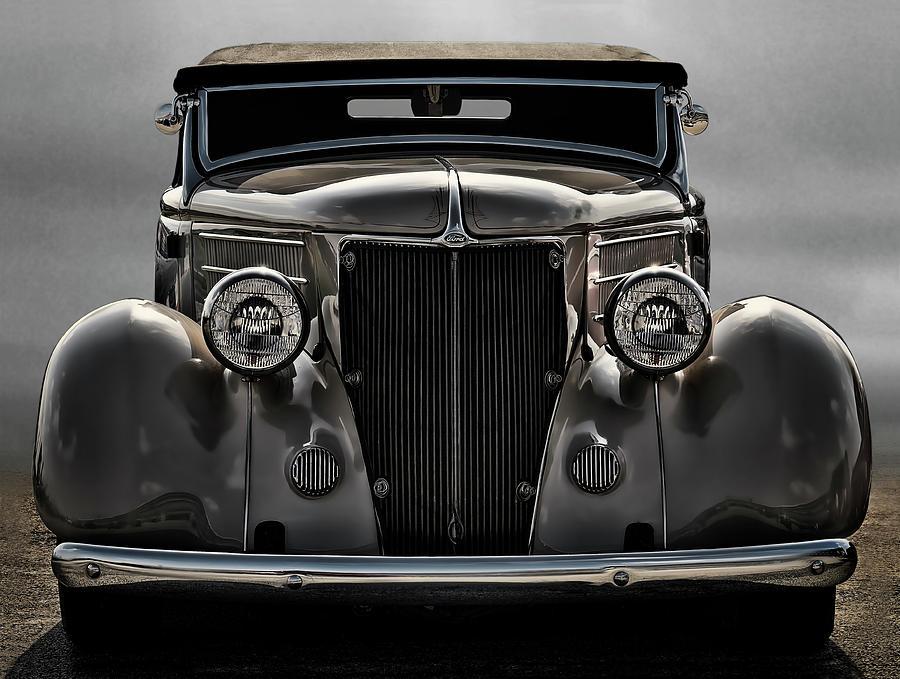 Vintage Digital Art - 36 Ford Convertible Coupe by Douglas Pittman