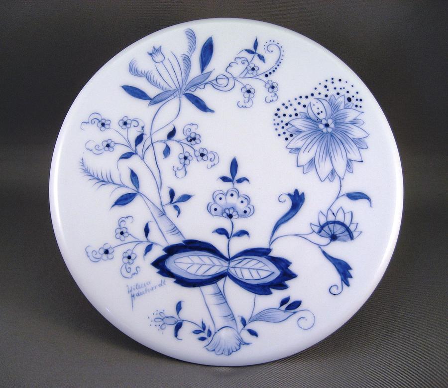 Porcelain Ceramic Art - 376 Trivit Blue Onion by Wilma Manhardt