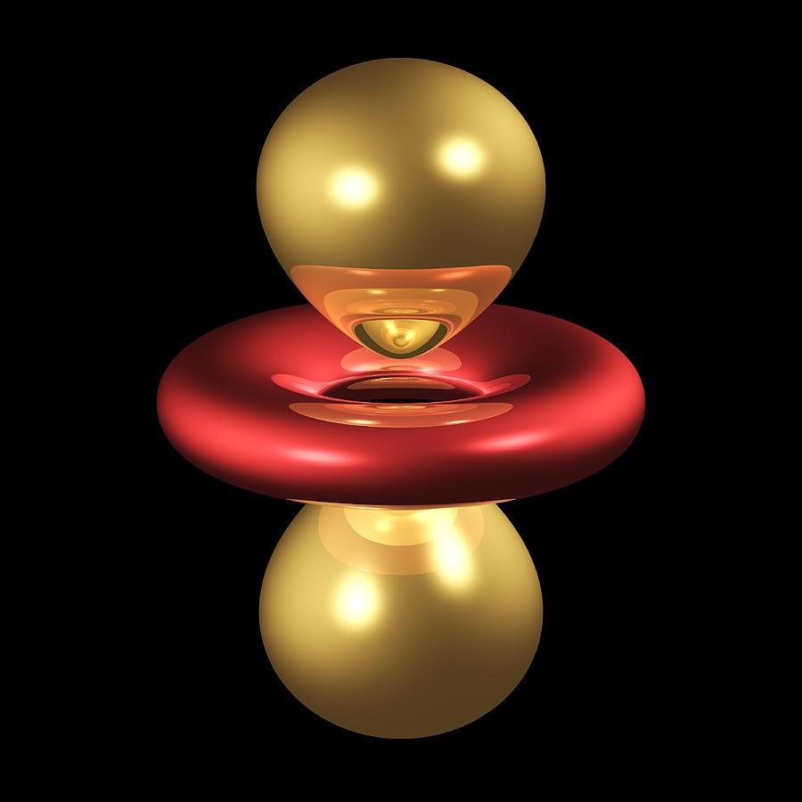 Orbital Photograph - 3dz2 Electron Orbital by Dr Mark J. Winter